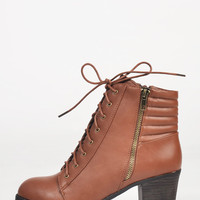 Laced Up Ankle Booties - 8