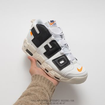 [Free Shipping ]Nike Air More Uptempo 902290-106  Basketball  Shoes