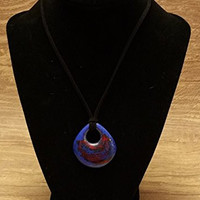 Fused Stained Glass Pendant Necklace - Hot and Cold
