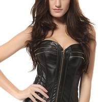 New Style Leather over Bust Sexy Corset