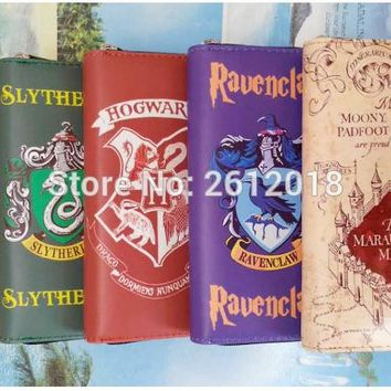 2017 New Harry Potter Gryffindor Slytherin Green Ravenclaw Hogwart mug, Marauders map PU Wallet Bag Gift Plush doll Toy