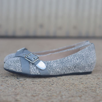 Dallas Hailey by Hush Puppies {Grey Marble Leather}   HW05261-065