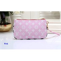 Louis vuitton hot seller of printed ladies' fashionable small purses Pink