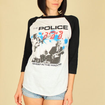 ViNtAgE 80's The POLICE 1982 Ghost in the Machine North American Tour Rock T-Shirt S