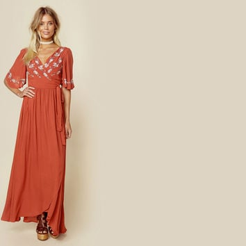 Zahara Wrap Dress