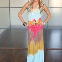 (Pre-Sale) Tie Dye Summer Nights Maxi Dress - Modern Vintage Boutique