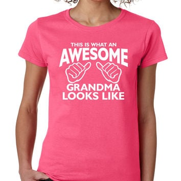 Pink Awesome Grandma Tee