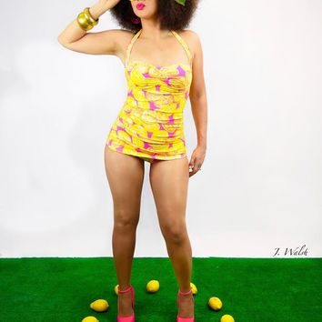 Zest for Life 1950s Inspired Pinup Swimsuit