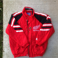 Vintage 90's Starter Detroit Red Wings Jacket NHL Medium