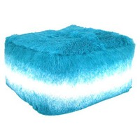 Room Essentials® Tonal Fuzzy Pouf