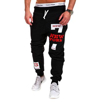 Men's Joggers Male Trousers Men Pants Hip-Hop Printing Letters Sweatpants Jogger