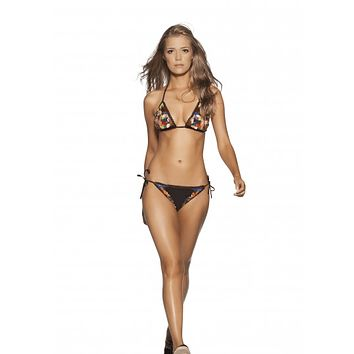 Agua Bendita Constelacion Triangle Top with Side Tie Bikini Bottoms Swimwear