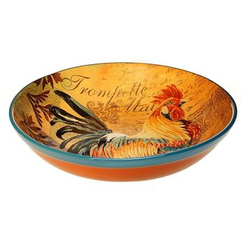 Certified International Rustic Rooster 12.75-in. Pasta Serving Bowl