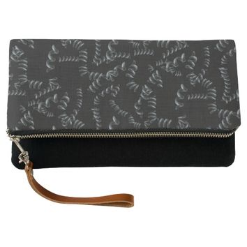 Black Abstract Pattern Clutch