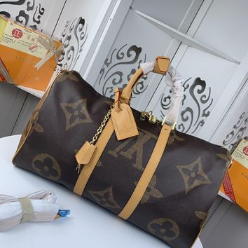 Kuyou Gb22991 Louis Vuitton Lv M43599 Monogram Giant Travel All Collections Keepall Bandouliere 50 50.0x 29.0x 23.0 Cm