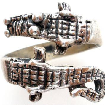 Gator Ring Sterling Silver Alligator Vintage