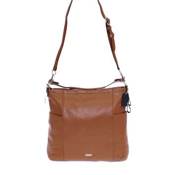 COACH Brown Park Purse Saddle Leather Hobo Bag