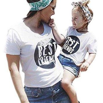 Best Friend Family Tshirt Mother Daughter Top Tees Family Matching Outfits