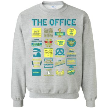 The Office Quote Mash-Up Funny - Official Tee  Crewneck Pullover Sweatshirt  8 oz.