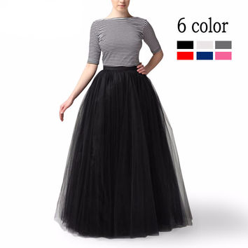 100cm Muslim Maxi Long Skirts 2016 Spring 3 Layers
