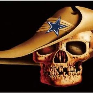 Dallas Cowboys 3'  5' Skull with Cowboy Hat 100% Polyester Flag