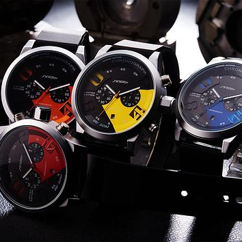 Original Watch Men Sport Quartz Men Watches Chronograph Wristwatch Time Hour Clock Hombre Men Watches