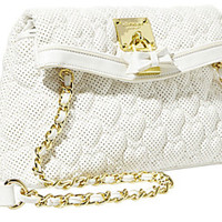 Betsey Johnson Be Mine Crossbody White
