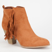 Qupid Salty Womens Booties Rust  In Sizes