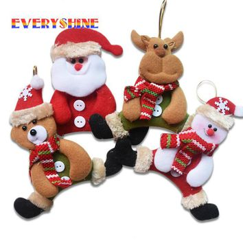 1x Mini Santa Claus, Snowman, Bear or Elk Christmas Tree Hanging Ornaments
