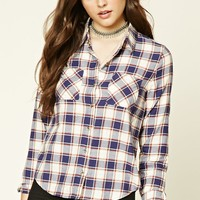 Pocket-Front Plaid Shirt