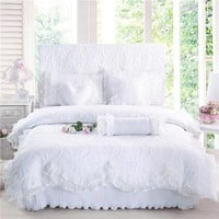 Quilted Lace Bedding Set