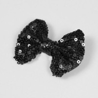 Shimmering Sequin Bow Hair Clip