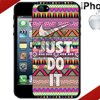 Nike Just Do It Aztec iPhone 5 Case - iPhone 4 Case or iPhone 5 Case - Nike Case - Hard Plastic iPhone Case