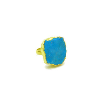 Raw Turquoise Ring