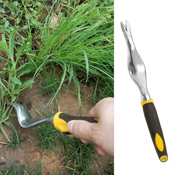 Behogar Aluminum Alloy Hand Weeder with Ergonomic Handle