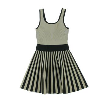 Guess Womens Striped Sleeveless Sweaterdress