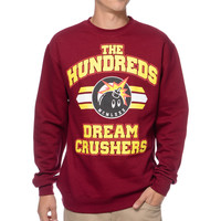 The Hundreds Crushing Dreams Burgundy & Yellow Crew Neck Sweatshirt at Zumiez : PDP