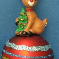 5 Christmas Ornaments - Rudolph And Friends