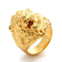 Jungl Julz 18K Gold Lion Ring