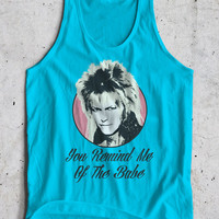 Goblin King Bowie Inspired Puppet 80's Fantasy David Remind Me Of The Babe Movie Tank Top Sleeveless T-Shirt Top Vest All Sizes And Colours