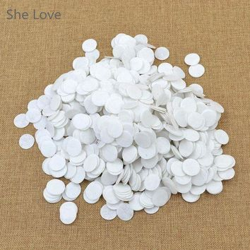 ac NOOW2 1000PCS White 20mm Felt Circle Die Cut Appliques DIY Cardmaking Craft Round New