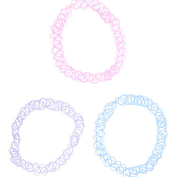 Pastel Tattoo Choker Set