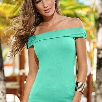 LIGHT GREEN Off the shoulder bra top from VENUS