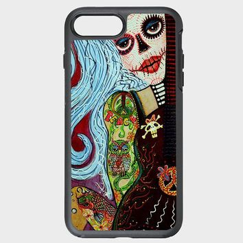 Custom iPhone Case Hippie Tattoo Pin Up Girl Painting
