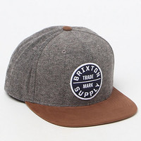 Brixton Oath III Grey & Orange Snapback Hat at PacSun.com