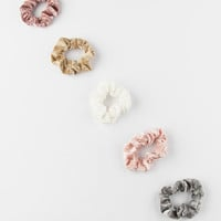 FULL TILT 5 Pack Suede Scrunchies