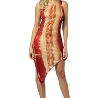 Women's Bacon Dress Adult Costume
