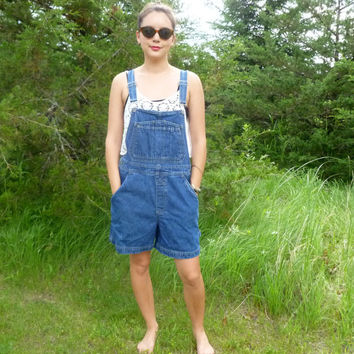 Vintage Bill Blass Jeans Denim Short Bib Overalls