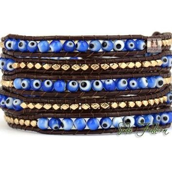 Evil Eye Wrap Bracelet-In Stock