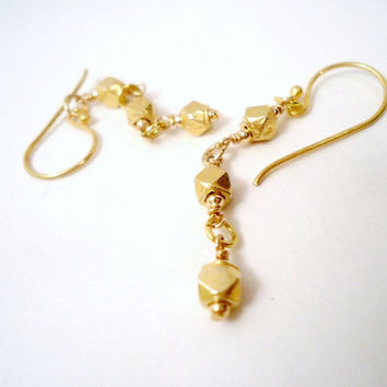 Handmade Gold Earrings by jewelrybycarmal